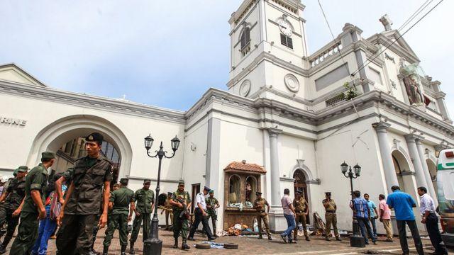 سری لنکا چرچ حملہ