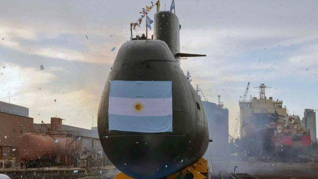 El ARA San Juan en una exhibición en Buenos Aires. (Foto: AFP/Ministerio de Defensa de Argentina)