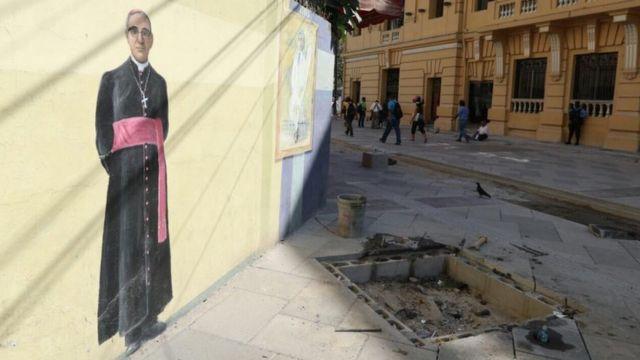 Mural del monseñor Romero. Foto: Francisco Campos.