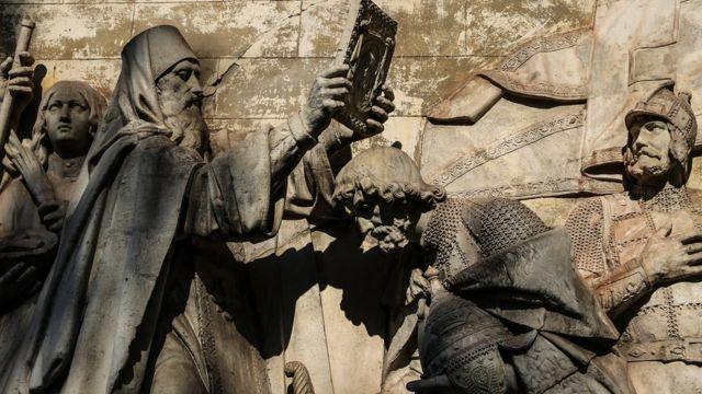 Горельеф Храма Христа Спасителя