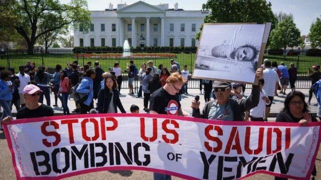 ABD Yemen protesto