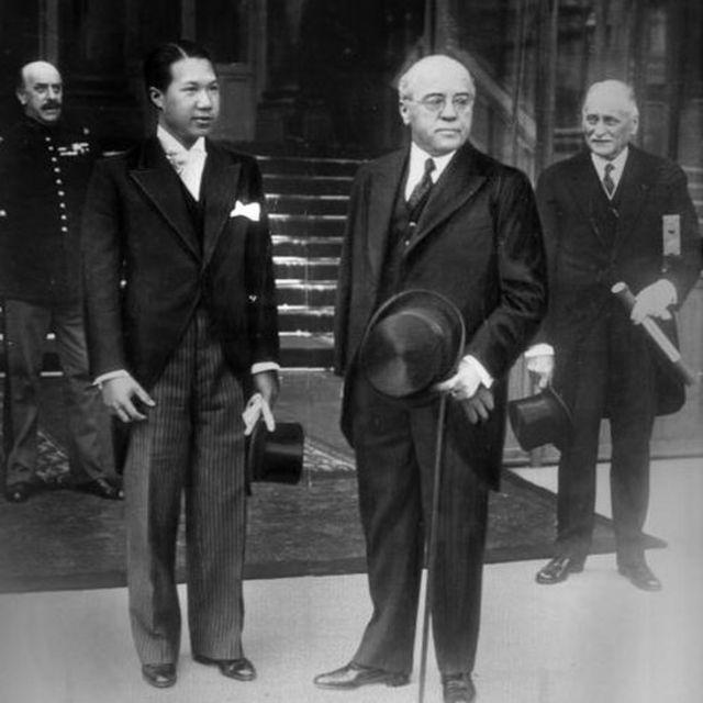 Hoàng đế Bảo Đại và Albert Sarraut tại Pháp năm 1933