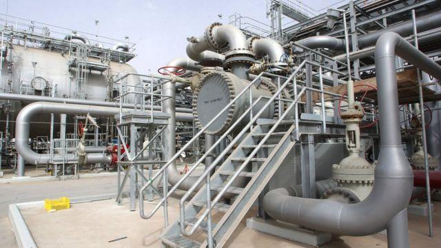 خطوط أنابيب نقل النفط في حرض بالسعودية (أرشيف)