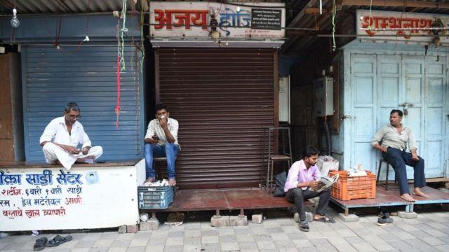 ہڑتال کے دوران ممبئی کے تاجر