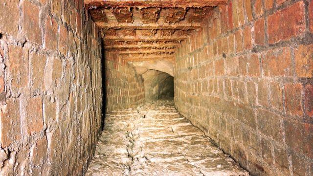 Underground tunnel cause of Church Aston road collapse