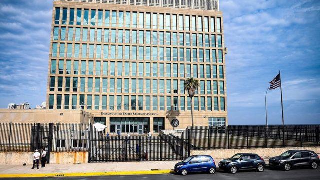 2021年5月,美国驻古巴哈瓦那大使馆(photo:BBC)