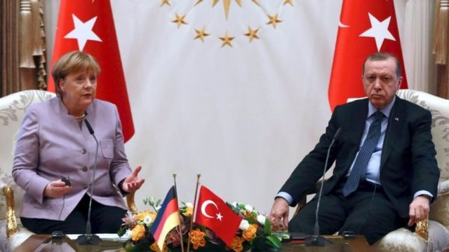 Almanya Başbakanı Merkel ve Cumhurbaşkanı Erdoğan 2 Şubat'ta Ankara'da bir araya geldi.