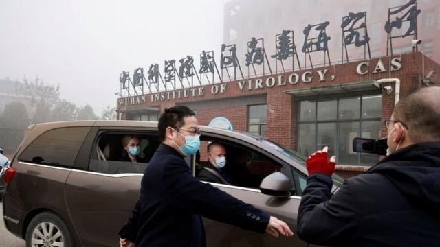 visita del equipo de la OMS al Instituto de Virología de Wuhan.