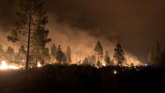 Мощные лесные пожары бушуют в Орегоне, США