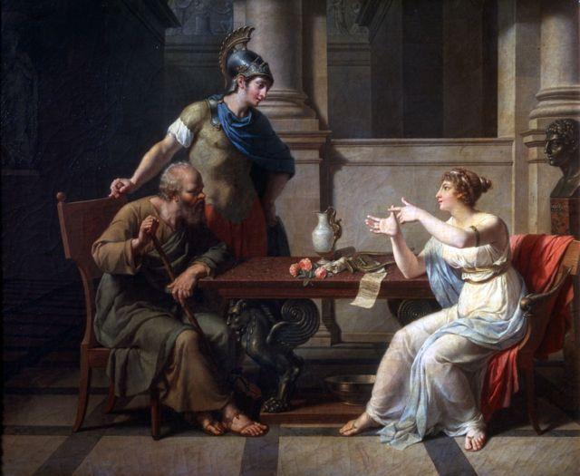 'Sócrates e Alcibíades em Aspásia', 1801. Artista: Nicolas Andre Monsiau