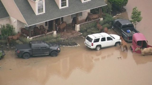 Flooding in Fort Bend County, Texas, US