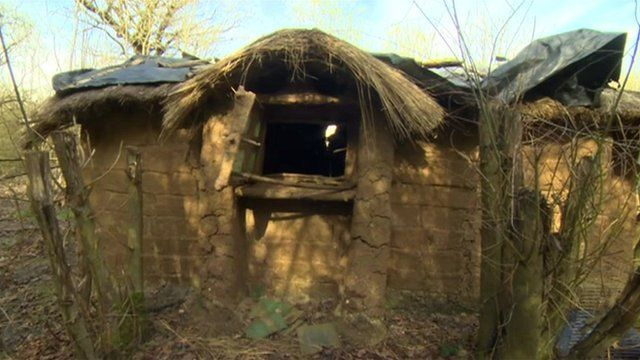 Man Told To Leave London Woodland Mud Hut Bbc News