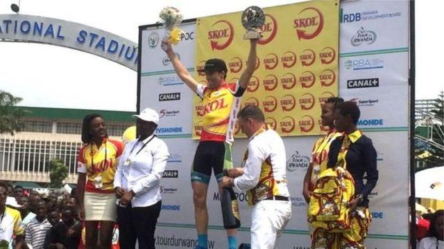 Le cycliste américain Thimoty Rugg