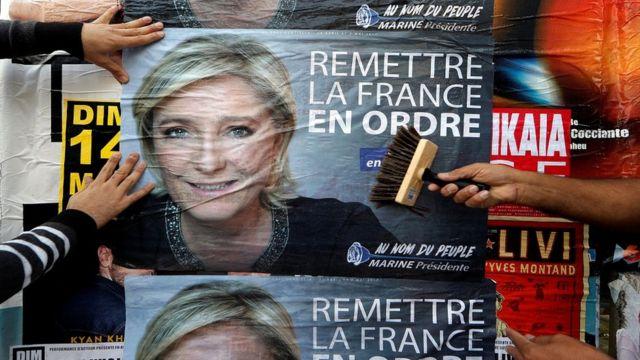 پوستر تبلیغاتی مارین لوپن