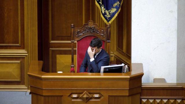 Володимир Зеленський у парламенті