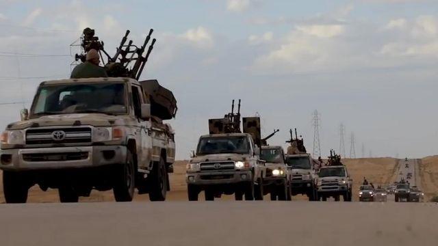 Колонна Ливийской национальной армии