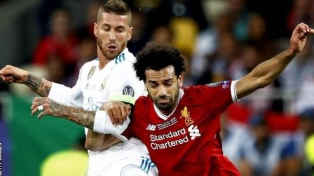 Sergio Ramos na Mohamed Salah