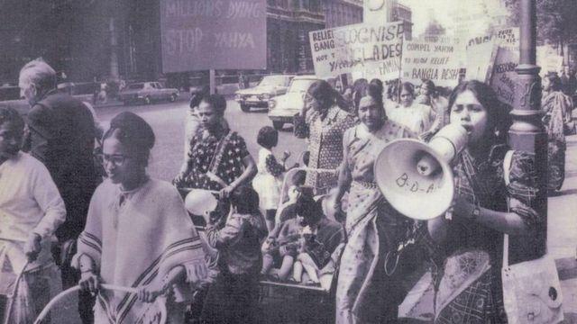 ১৯৭১ সালের তেসরা এপ্রিলে লন্ডনে বাঙালি নারীদের প্রথম মিছিল