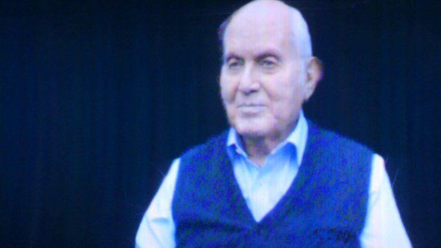 Holocaust survivor, Pinchas Gutter