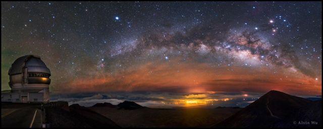 Via Láctea vista do Havaí