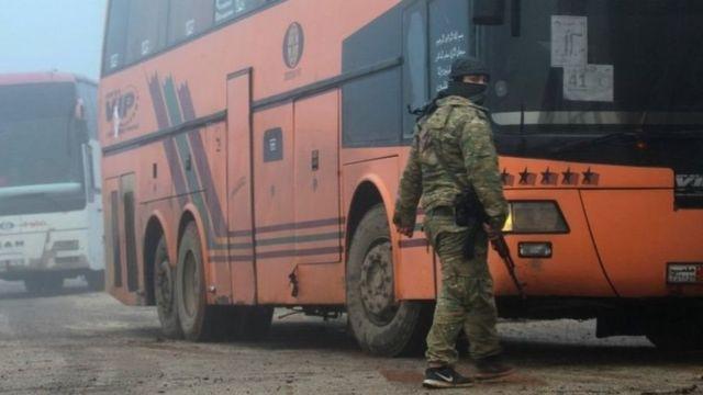 تخلیه غیرنظامیان از سوریه