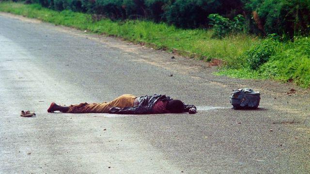 Жертва геноцида в Руанде