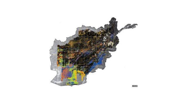 Mapa mineral do Afeganistão