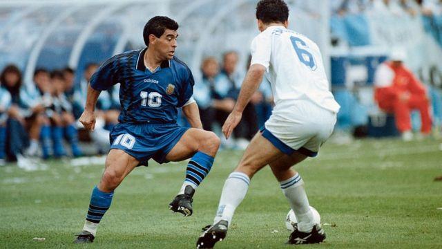 Diego Maradona en 1994.