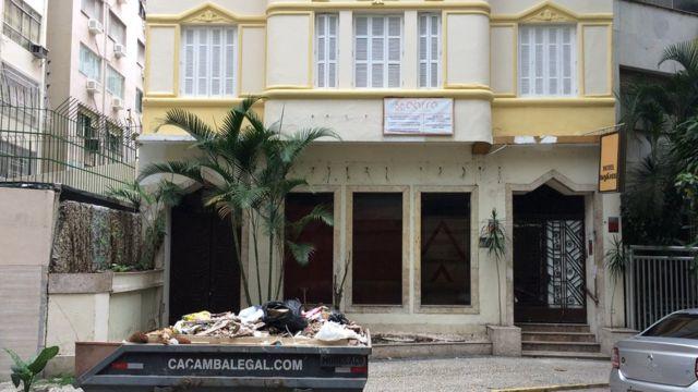 Viejo hotel Paysandu del barrio de Flamengo de Río.