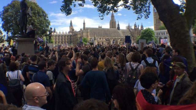 Демонстрация в центре Лондона