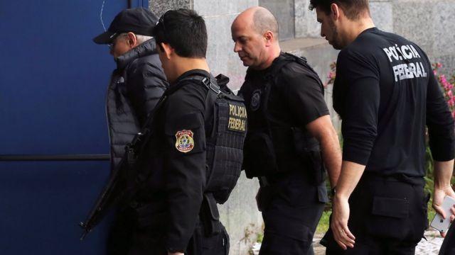 Mantega en el momento de su arresto en Sao Paulo.