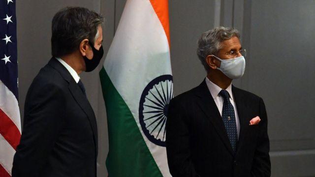 وزیر خارجه هند پیشتر در طول هفته از جمله با آنتونی بلینکن دیدار کرده بود