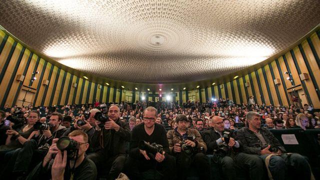 Le public présent lors de la conférence de presse fu festival de Cannes jeudi 13 avril à Paris
