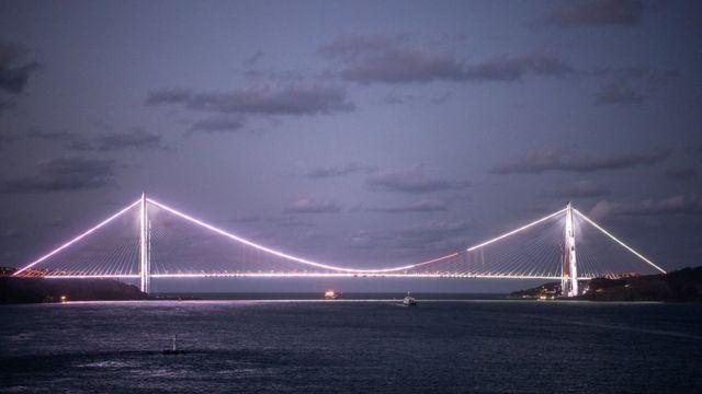 The Sultan Yavuz Selim Bridge, the third over the Bosphorus