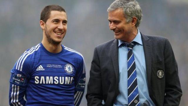 Hazard na Mourinho