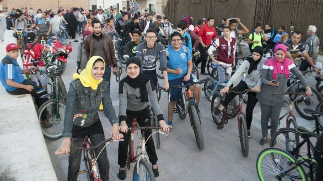 Egypt girls launch cycling equality campaign