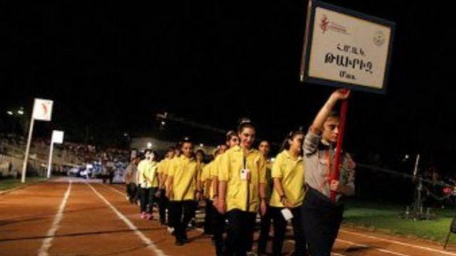 افتتاحیه مسابقات ارامنه در ورزشگاه آرارات