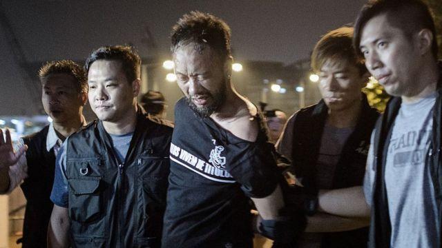 资料图片:曾健超于2014年10月15日凌晨被捕