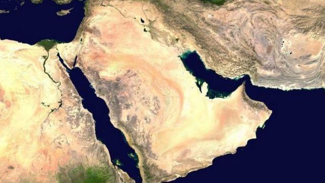 मध्य-पूर्व की सैटेलाइट तस्वीर