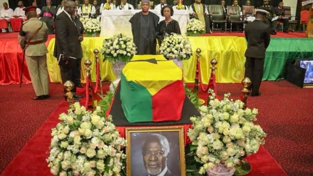 Aworan eto isinku Kofi Annan