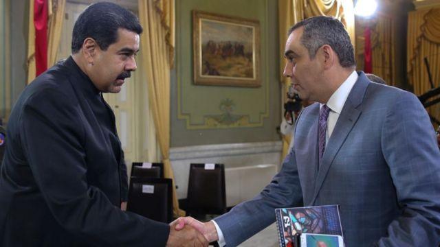 Nicolás Maduro, presidente de Venezuela, y Maikel Moreno, presidente del TSJ