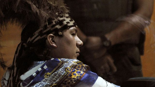 Celestino Córdova en la corte de Temuco.