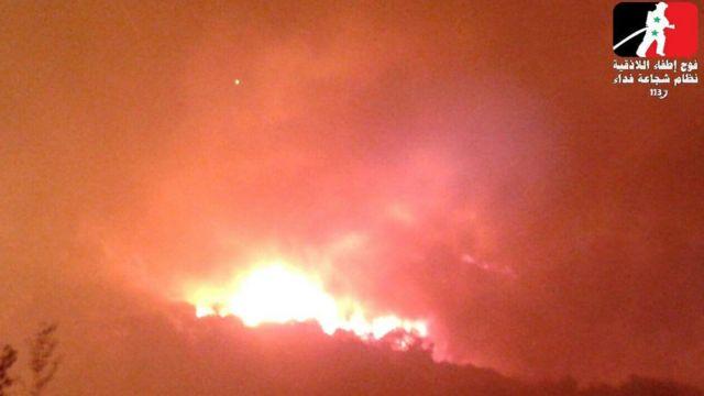 أحد الحرائق قرب القرداحة