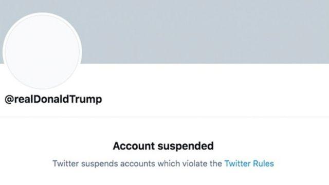 حساب ترامب على تويتر