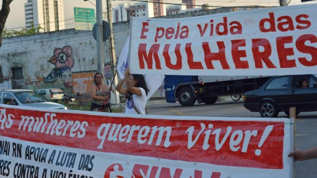Protesto contra mortes de mulheres no Rio Grande do Norte