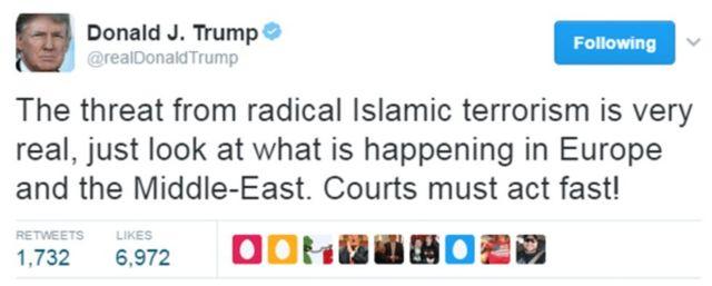 Tweet ya Trump