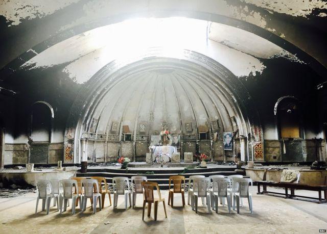 Desecrated church of St Behnam and St Sara, Qaraqosh
