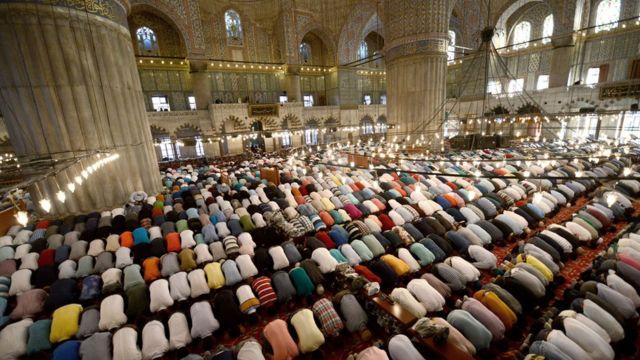 伊斯坦布爾著名的藍色清真寺