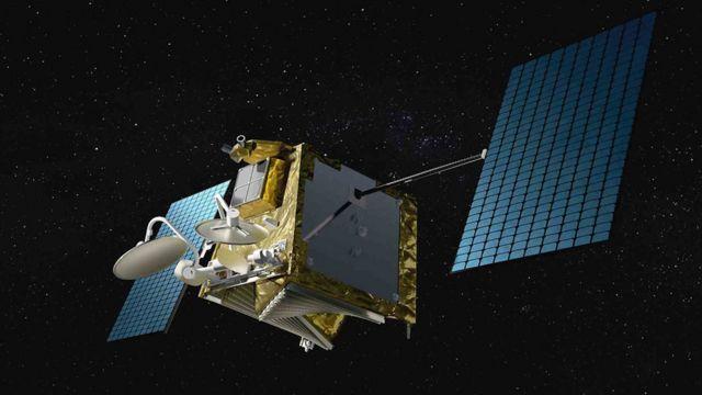 Ilustración de un satélite de OneWebb.