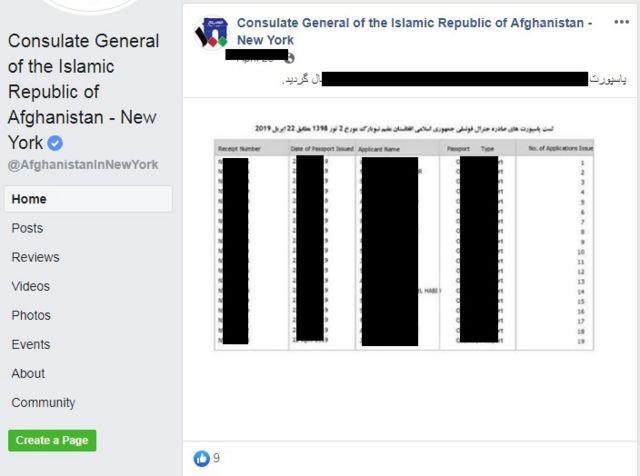 کنسولگری افغانستان در نیویورک